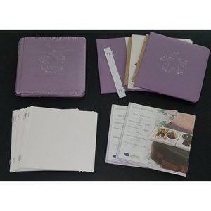 2 Creative Memories 7x7 Purple Album Pages Lot